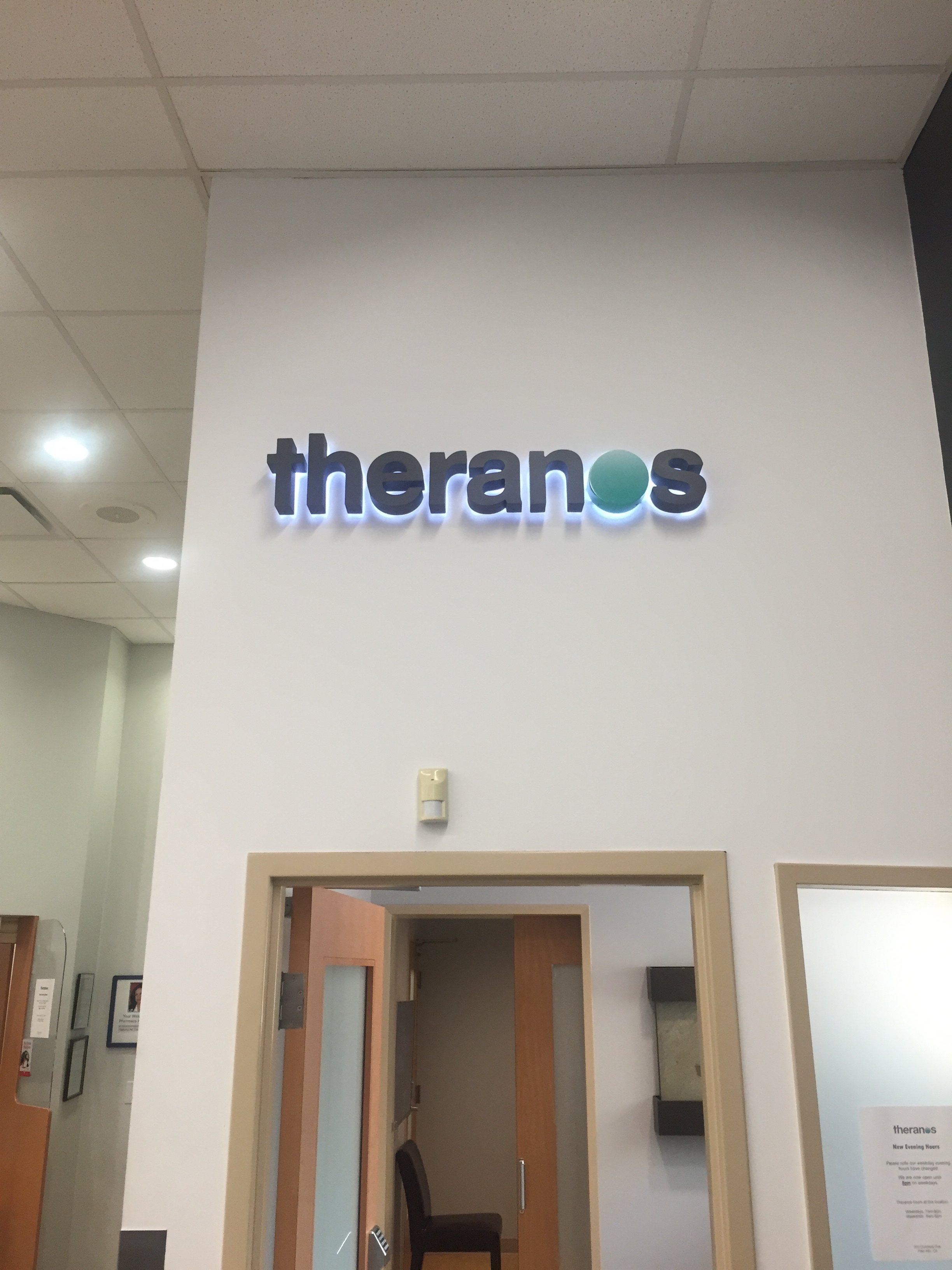The Theranos store in my local Walgreens, opened Sept 2013
